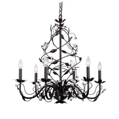 6-Light Oil Rubbed Bronze Chandelier