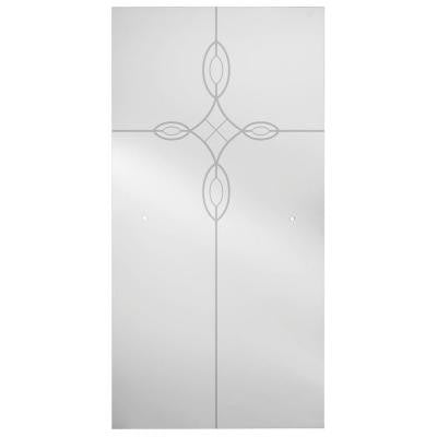 60 in. x 67 in. Sliding Shower Door Glass Panel in Tranquility