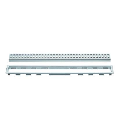 Kerdi-Line Brushed Stainless Steel 20 in. Metal Perforated Drain Grate Assembly