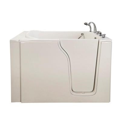 Bariatric 4.58 ft. x 35 in. Hydrotherapy Massage Walk-In Bathtub in White with Right Door/Drain