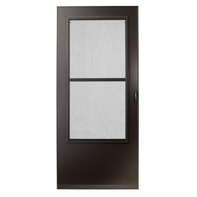 36 in. x 80 in. 200 Series Bronze Triple-Track Storm Door