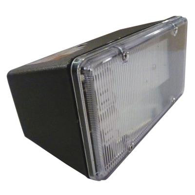 Multi-Use Wall Mount 1-Light Outdoor Black Fluorescent Flood Light
