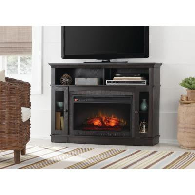 Grafton 46 in. Media Console Infrared Electric Fireplace in Anthracite Finish