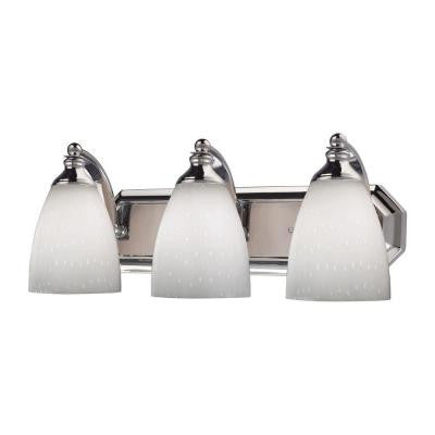 Nevaeh 20 in. 3-Light Polished Chrome Vanity Light