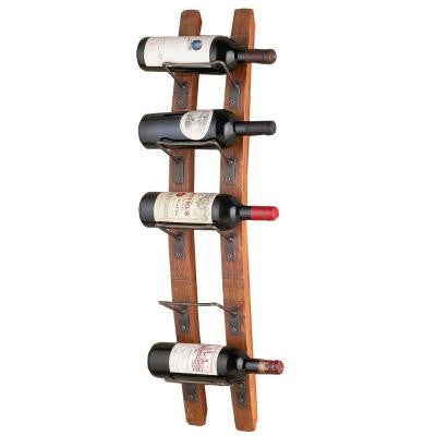 Barrel Stave-5 Bottle Wall Wine Rack