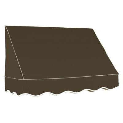 35 ft. San Francisco Window Awning (44 in. H x 24 in. D) in Brown