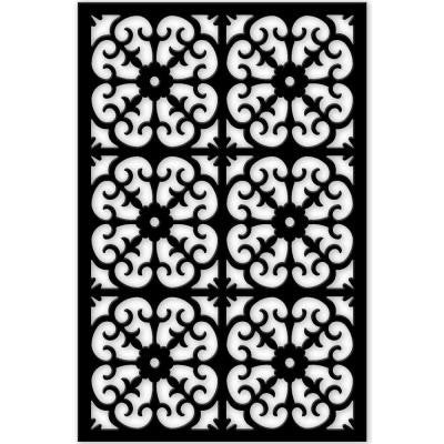 1/4 in. x 32 in. x 4 ft. Black Roman Vinyl Decor Panel