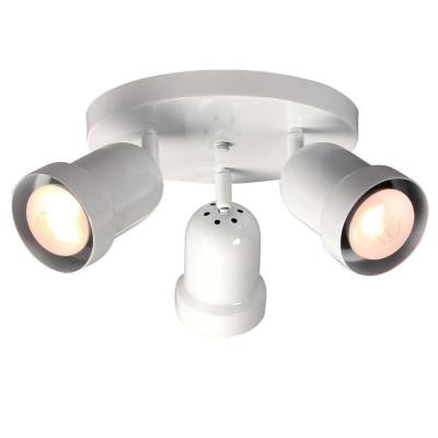 Negron 3-Light White Track Head Spotlight with Directional Heads