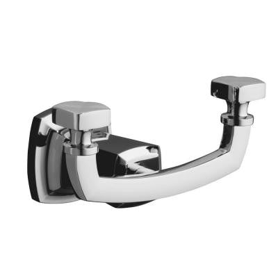 Margaux Double Robe Hook in Polished Chrome