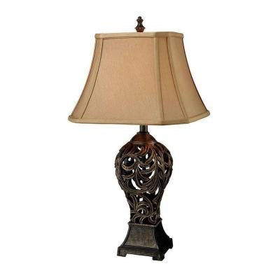 Allegra 30 in. Buthan Bronze Table Lamp with Shade