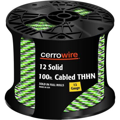 100 ft. 12-3 Solid THHN Cable
