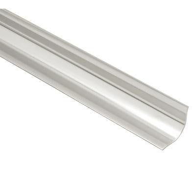 ECK-KHK Brushed Stainless Steel 9/16 in. x 4 ft. 11 in. Metal Corner Tile Edging Trim