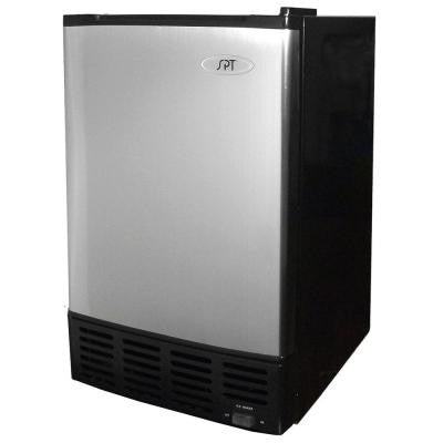 15 in. 12 lb. Built-In Ice Maker in Stainless and Black