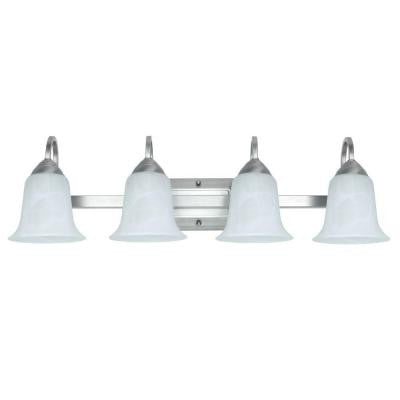 4-Light 34-Watt Brushed Nickel LED Vanity Fixture