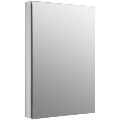 Catalan 24.125 in. W x 36 in. H x 5 in. D Recessed or Surface Mount Medicine Cabinet in Satin Anodized Aluminum
