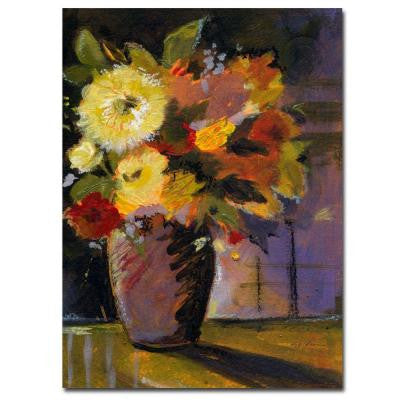 24 in. x 32 in. Purple Vase Canvas Art