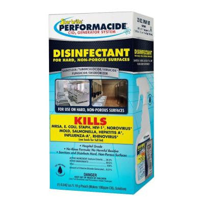 Performacide 32 oz. Disinfectant Spray Kit for Hard Non-Porous Surfaces Pro Pack (12-Pack)