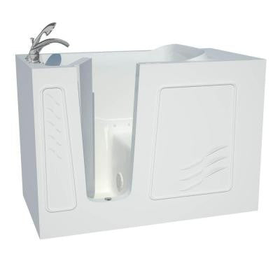 Contractor Series 4.5 ft. Left Drain Walk-In Air Bath Tub in White