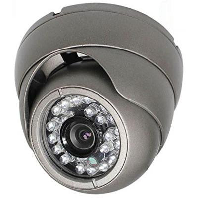Wired Indoor/Outdoor Vandal Proof IR Dome Camera with 1000TVL Resolution 3.6 mm Lens