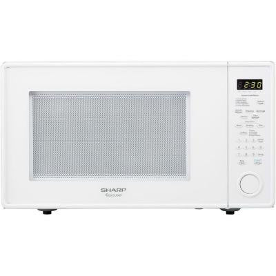 Carousel 1.8 cu. ft. 1100 Watt Countertop Microwave in White with Sensor Cooking