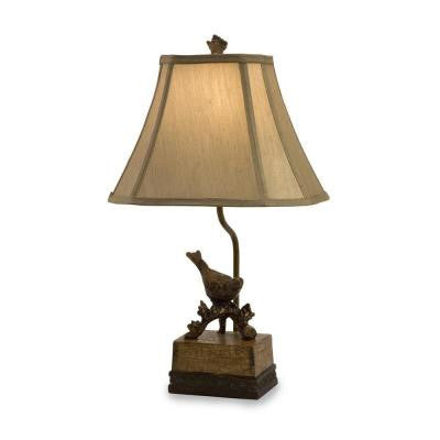 Rochester 21 in. Bronze Bird Lamp