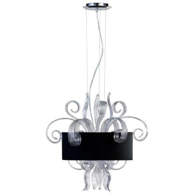 Prospect 3-Light Clear and Black Retro Art Pendant