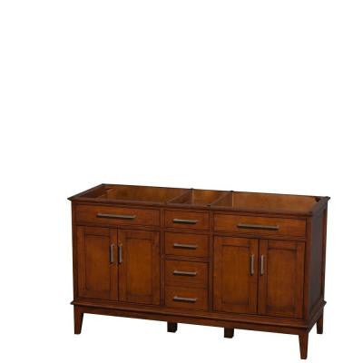 Hatton 59 in. Vanity Cabinet Only in Light Chestnut