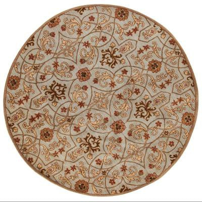 Grimsby Sky Blue 6 ft. Round Area Rug