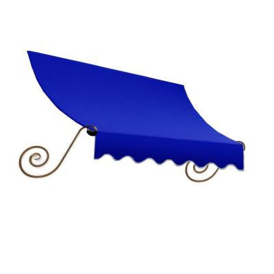 12 ft. Charleston Window Awning (31 in. H x 24 in. D) in Bright Blue