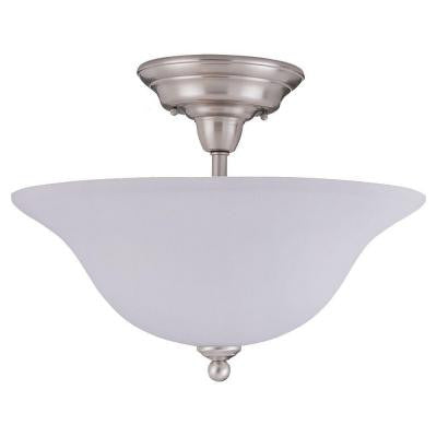Sussex 3-Light Brushed Nickel Semi-Flush Mount Light