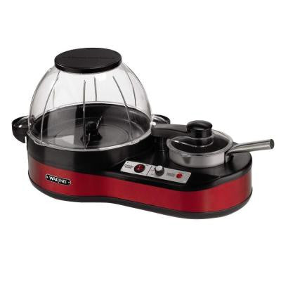 Popcorn Maker with Melting Station in Red