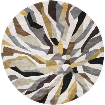 Nabari Light Gray 8 ft. x 8 ft. Round Indoor Area Rug