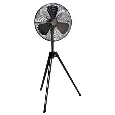 Adjustable-Height 16 in. Oscillating Onyx Copper and Black Tripod Fan