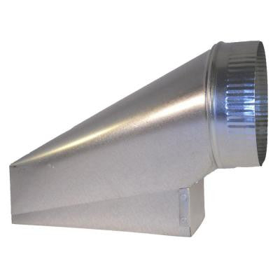 10 in. x 3.25 in. x 6 in. Galvanized Sheet Metal Range Hood End Boot Adapter