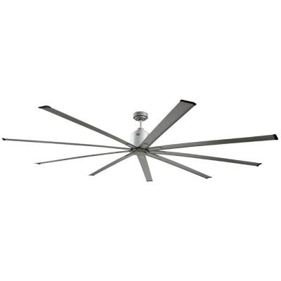 96 in. Indoor Metallic Satin Nickel Industrial Ceiling Fan