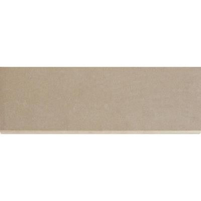 Beton Khaki 4 in. x 12 in. Glazed Porcelain Bullnose Wall Tile