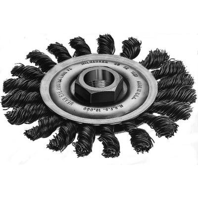 4 in. Carbon-Steel Full-Cable Twist Wire Wheel