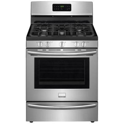 Gallery 30 in. 5.0 cu. ft. Gas Range with Self-Cleaning QuickBake Convection in Stainless Steel
