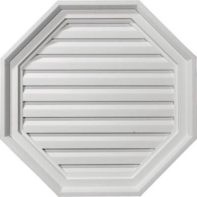 2-1/8 in. x 22 in. x 22 in. Decorative Octagon Gable Louver Vent