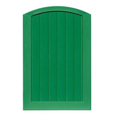 Pro Series 4 ft. x 6 ft. Green Vinyl Anaheim Privacy Arched Top Fence Gate