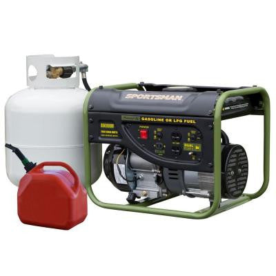 2,000-Watt Dual Fuel Generator with Automatic Voltage Regulation Runs on LPG or Regular Gasoline