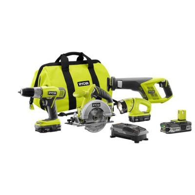 18-Volt Lithium-Ion Super Combo Kit with Extra Lithium Plus Compact Battery