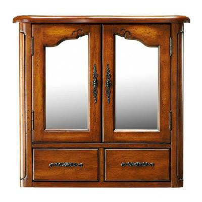 Provence 24 in. W Wall Cabinet in Chestnut