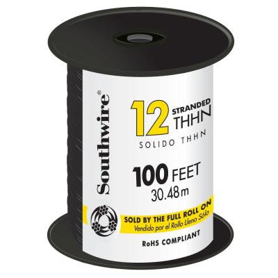 100 ft. 12 Stranded THHN Wire - Black