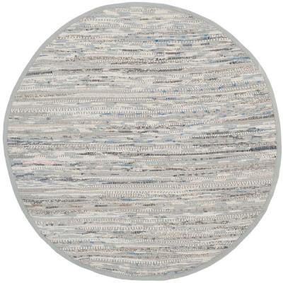 Rag Rug Grey 4 ft. x 4 ft. Round Area Rug