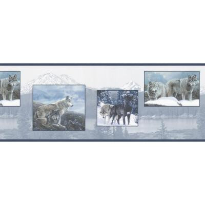 9 in. Scenic Wolf Border