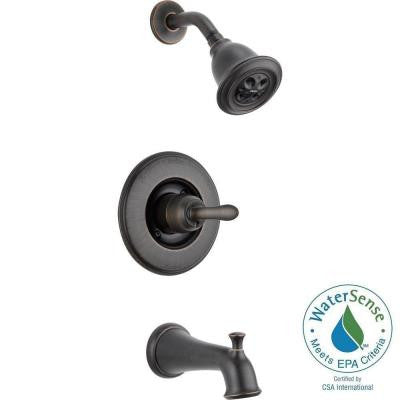 Linden 1-Handle 1-Spray Tub and Shower Faucet Trim Kit in Venetian Bronze Featuring H2Okinetic (Valve Not Included)