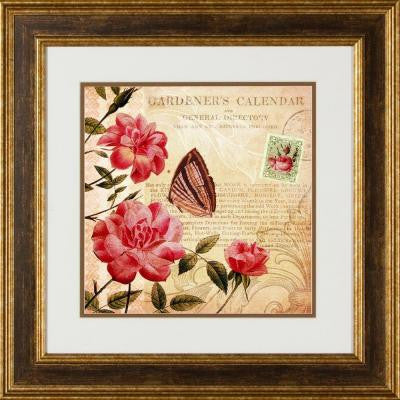 "20.5 in. x 20.5 in. ""Botanical Practice B"" Framed Wall Art"