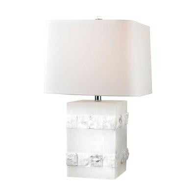Orly 26 in. Alabaster Table Lamp with Shade