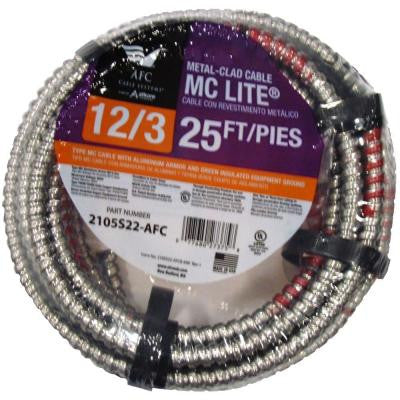 25 ft. 12-3 Solid MC Lite Cable
